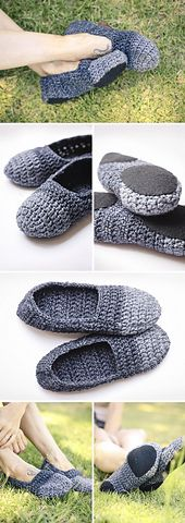 Crochet Slippers Pattern Ladies Shoe Size: 5 Yarn type: Vinnis Colours – TORI Bamboo viscose, cotton) Chunky Colour A (toes of shoe): < 1 ball of yarn (I used colour: Dark . Crochet Slipper Pattern, Crochet Mandala Pattern, Crochet Flower Patterns, Crochet Slippers, Crochet Patterns Amigurumi, Crochet Yarn, Crochet Stitches, Knitting Paterns, Knitting Yarn