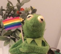 Kermit for gay rights. Or Kermit is gay. Either one is fine.