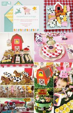 Invitaciones infantiles, invitaciones para fiestas infantiles, cumpleanos en la granja, animalitos, ideas para cumpleanos de ninos y ninas