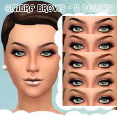 Mod The Sims: Ombre Brows by Cloud9sims • Sims 4 Downloads