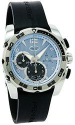 Parmigiani Pershing Chronograph 005 Blue Dial Rubber Strap PFC528-0010500-X01402