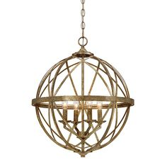 Lakewood Vintage Gold 20 Inch Four Light Pendant Millennium Lighting Globe Pendant Lightin