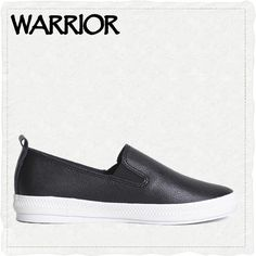 WARRIOR Brand PU leather casual shoes Rubber cushion solid shoes 2Colors Loafers Slip On Women's Flat Shoes Moccas #WXY-872