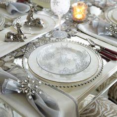 Snowflake Glass Salad Plate
