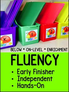 Fluency Center: Sentence Shuffle Center: It seems like it is hard to find time to add fluency lessons to a busy schedule. Although you can send books home, families have busy schedules, too. So, what is the solution when fluency is such an important component to reading? link to paid