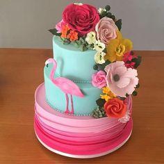 New Cake Fondant Girl Decorating Supplies 48 Ideas Flamingo Party, Flamingo Cake, Flamingo Birthday, Luau Birthday, Birthday Parties, Birthday Cake, Birthday Ideas, Bolo Tumblr, Fondant Girl
