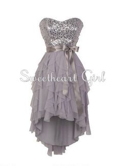 Pretty Sweetheart neckline high - low prom dress / homecoming dress