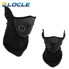 LOCLE Outdoor Windproof Cycling Mask Riding Fleece Winter Warm Half Face Motorcycle Snowboard Ski Mask Balaclava Face Mask #shoes, #jewelry, #women, #men, #hats