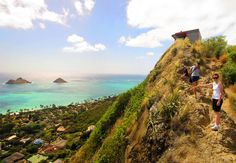 Pill Box hike near Lanikai, Oahu, Hawaii. Unbelievable colors. Great hike.