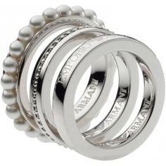 77f1409ead2a Emporio Armani Jewellery - In Stock! - Ladies Armani ring in a stunning  multi-loop design in high-shine sterling silver.
