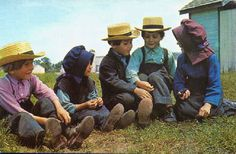 Amish children having a good time.