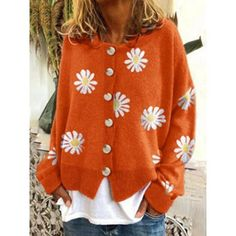 Blouses For Women, Sweaters For Women, Knitted Coat, Knitted Fabric, Casual Sweaters, Women's Sweaters, Knit Jacket, Types Of Sleeves, Long Sleeve
