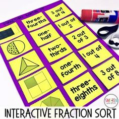 Fraction activities and games