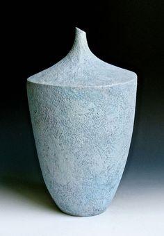Blue Gray Vase 2 by LeeDanielsClayWorks on Etsy Ceramic Pots, Stoneware Clay, Ceramic Pottery, Pottery Art, Lee Daniels, Blue Grey, Gray, Surface, Inspire