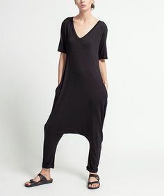 This Black Harem Jumpsuit is perfect! #zulilyfinds