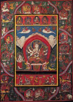 thangka painting (source: himalayanart.org) #tibetan #thangka