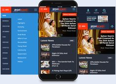 news app user interface design for Ipoh Echo in Malaysia