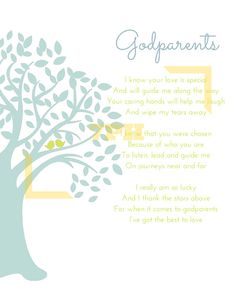 THE ONES THAT HELP GUIDE US - Godparent Print (DIGITAL DOWNLOAD VERSION)  This 8x10 print is a beautiful way to help express the important role
