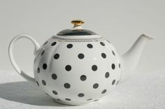 Grace's Teaware Teapot with Lid. Polka Dot Tea pot. Ceramic Teapot #GracesTeaware