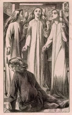 'Maids of Elfen-Mere, engraved by the Dalziel Brothers', Dante Gabriel Rossetti | Tate