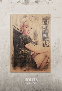 Marilyn Monroe - All natural // Transfer on wood