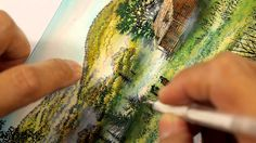 Stampscapes 101: Video 120.  Paint and gel pen applications.  (From Scra...