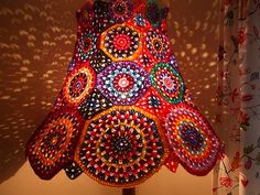 Crochet lampshade-Love it!