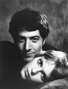 MIA FARROW and DUSTIN HOFFMAN (1969) by Philippe Halsman