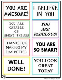 Random Act Of Kindness Printable Notes Woo Jr. Kindness Projects, Kindness Activities, Activities For Kids, Educational Activities, Educational Quotes For Kids, Teaching Kindness, Educational Leadership, Educational Technology, Kindness Notes
