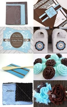 BLUE AND BROWN by Jessy on Etsy--Pinned with TreasuryPin.com