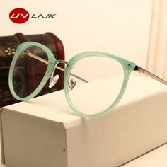 Modern cat eye comby eyeglasses in a multi color design choose from 3 patterns