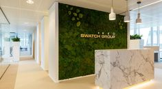 Moswand The Swatch Group - Bloei Interieurbeplanting