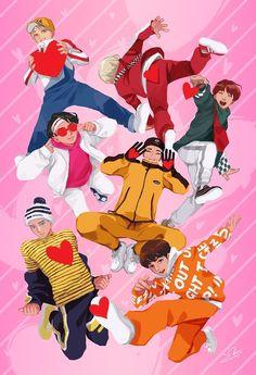 Wall paper bts anime Ideas for 2019 Jungkook Jimin, Bts Bangtan Boy, Foto Bts, Bts Kawaii, Dance Music, K Pop, Bts Anime, Got7, Dibujos Cute
