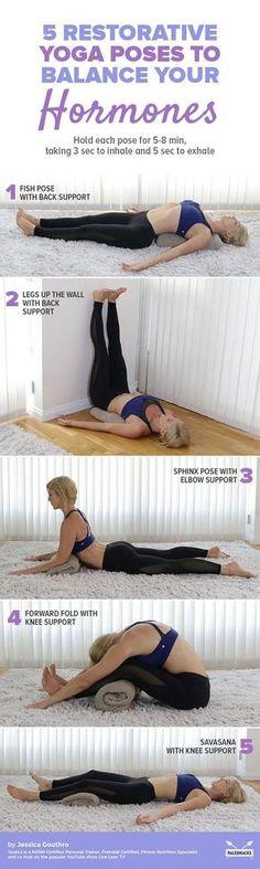 5 Restorative Yoga Poses to Balance Your Hormones
