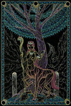 The High Piestess - The Tree of Knowledge by Lakandiwa