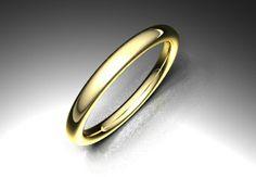 Crea tu joya - EXTREM. Alianza modelo eclipse. Material oro amarillo. Calibre 2,5 o 3,0 mm a elegir.