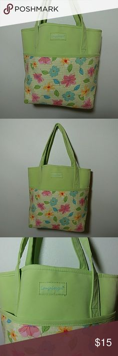 💚🌷LONGABERGER 🌻Spring Easter Tote/Purse🐝🌸 Up for grabs is this really adorable spring Easter Longaberger tote / purse. This tote is in excellent preowned condition. It is in very pretty colors of a light lime green with flowers of red and blue and yellow. Check out my closet for more women's handbags. Thanks for looking. longaberger Bags Totes