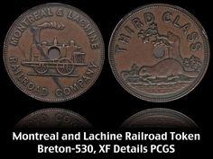 Rare Montreal and Lachine Railroad Token (1847), Breton-530, XF Details PCGS