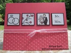 Great inchie card for weddings or anniversaries.