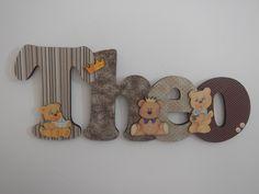 Porta Maternidade Theo, tema Ursos