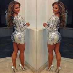 Ugh I NEED a long sleeve short sequin dress!