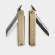 The Brass Higo Pocket Knife #outdoor #gear #blade #camping #japanese #knife #knives