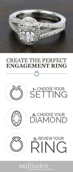 Create your perfect engagement ring! Start with a beautiful setting, add your choice of oval diamond and see it all come together!