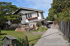Christchurch Earthquake - Avonside House Collapses by Nigel Spiers