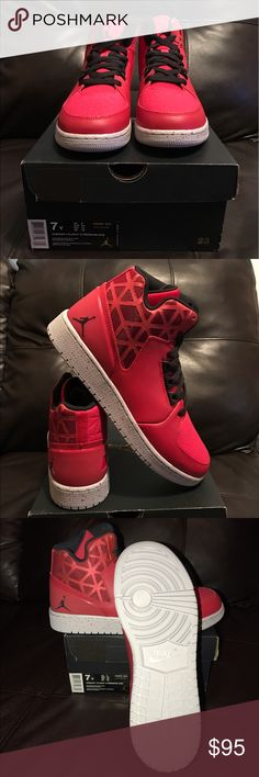 Jordan 1 Flight 3 Premium Brand new Jordan 1 Flight 3 Premium red and gray. New with box. Never been worn Jordan Shoes Sneakers