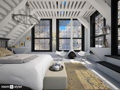 Loft with balcony by Leyvna on Roomstyler