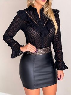 Swans Style is the top online fashion store for women. Shop sexy club dresses, jeans, shoes, bodysuits, skirts and more. Cute Fashion, Skirt Fashion, Womens Fashion, Summer Work Outfits, Fall Outfits, Types Of Jeans, Boyfriend Style, Denim Outfit, Skin Tight