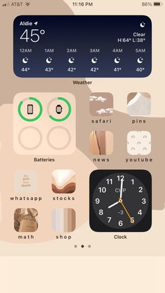 Iphone Layout, Homepage Design, Wallpaper Patterns, Homescreen, Instagram Story, Ios, Nude, Beige, Board