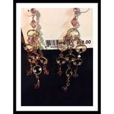"""PINK EARRINGS Barely blush pink crystal chandler earrings with a post backing & 4"""" drop. Sparkly!!  would match with many of my tops!! Sweet Valentine's gift!!!  Jewelry Earrings"""