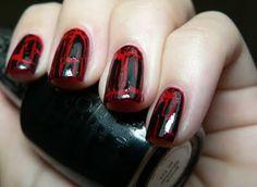 Shattered nail polish tut.
